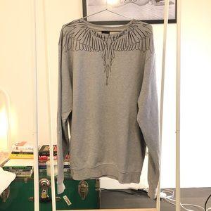 Marcelo Burlon: Neon Wings Gray Sweatshirt